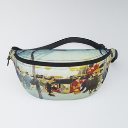 Japanese Covered Litter and Lanterns Fanny Pack