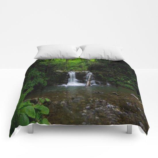 naturel forest lake Comforters