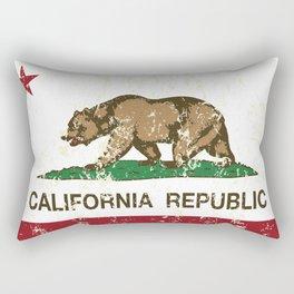 California Republic Flag Distressed Rectangular Pillow