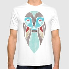 owl colour Mens Fitted Tee White MEDIUM