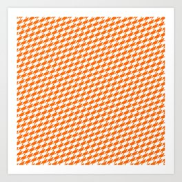 Sharkstooth Sharks Pattern Repeat in White and Orange Art Print