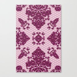 Python Lace Fantasy in Pink Canvas Print