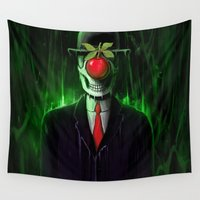 magritte Wall Tapestries featuring Temptation by nicebleed
