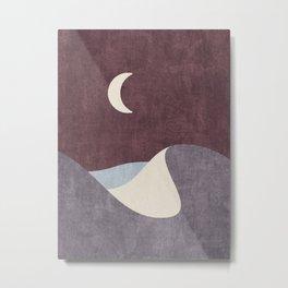 LANDSHAPES / Desert - Night Metal Print