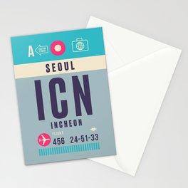 Retro Airline Luggage Tag - ICN Seoul Korea Stationery Cards