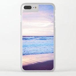 Purple Sunset over Hermosa Beach, Los Angeles  Clear iPhone Case