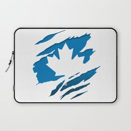 Canadian Blue Flag Pride Laptop Sleeve