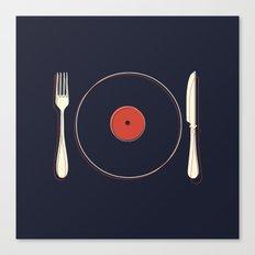 Vinyl Food Canvas Print