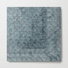 Ink Stitch: Aquamarine (green-shade) Metal Print