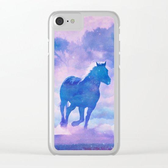 Horses run Clear iPhone Case
