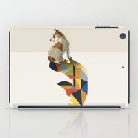 jack russell iPad Cases featuring Walking Shadow, Jack Russell by Jason Ratliff