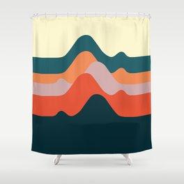 Minimalist Mountain Shower Curtain