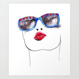 Red Kiss Art Print