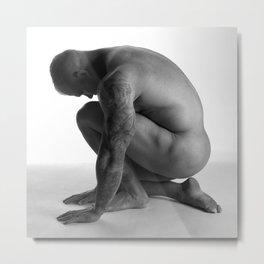 Male Nude Squared Pt.2 Metal Print