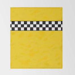 NY Taxi Cab Cosplay Throw Blanket