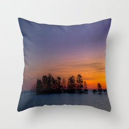Lake Mattamuskeet Sunrise Throw Pillow