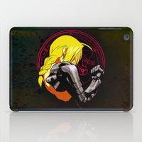 fullmetal iPad Cases featuring YELLOW HAIR ALCHEMIST by BradixArt