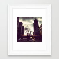 detroit Framed Art Prints featuring Detroit by Christina Fehan