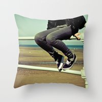 vans Throw Pillows featuring Vans by Zsolt Kudar