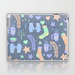 Winter Hygge Warm Socks and Hot Chocolate Laptop & iPad Skin