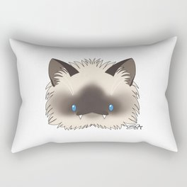 Spoopy Birman Kitty disguise! Rectangular Pillow
