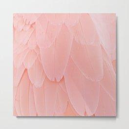 Pink Scandi Feathers Metal Print
