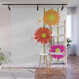Multicolored gerberas Wall Mural