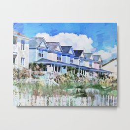 Beach Homes PhotoArt Metal Print
