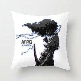 Afro Samuraiart Throw Pillow