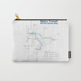 Twin Cities METRO System Map Carry-All Pouch