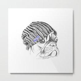 Hipster + Pug = Pugster Metal Print