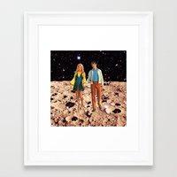 walk the moon Framed Art Prints featuring Moon walk by Steven Quinn