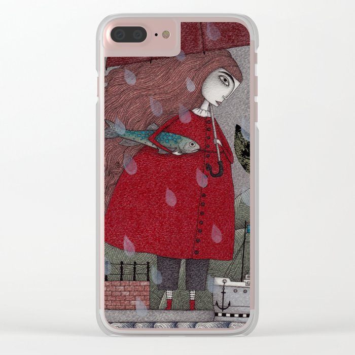 At the Harbor Clear iPhone Case