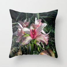 Inspiration Orchids  Throw Pillow