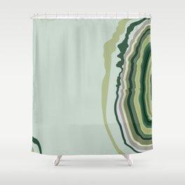 Green Geode Slice Shower Curtain