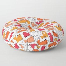 Foxy Foxes Doodle Floor Pillow