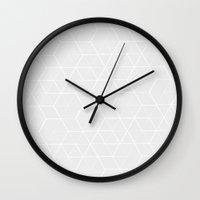 hexagon Wall Clocks featuring HEXAGON by Wishbone&CO.