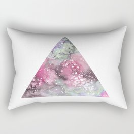 Watercolor Galaxy Triangle Rectangular Pillow