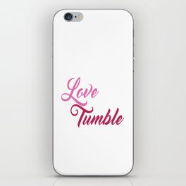 Live Love Tumble Gymnastics T-shirt iPhone Skin