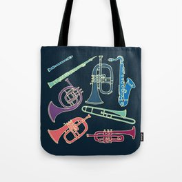 Wind instruments Tote Bag