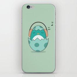 Kawaii Cute Music Loving Bird iPhone Skin