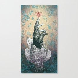 Reach your heart Canvas Print