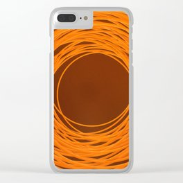 Spiralling Embers Clear iPhone Case
