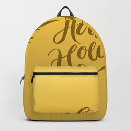 Happy Holidays Lettering on Gold Background Backpack