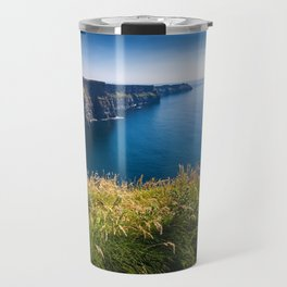 Sunny Cliffs of Moher, Ireland Travel Mug