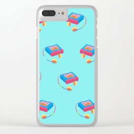 Back To The 90's Clear iPhone Case