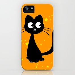Kitty Kuro Orange iPhone Case
