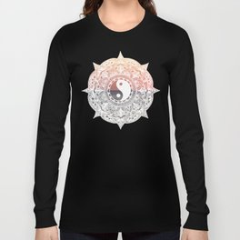 Sunset Yin Yang Mandala Long Sleeve T-shirt