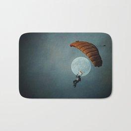 Skydiver's Moon Bath Mat