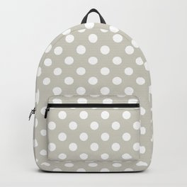 Wolf Gray and White Polka Dot Pattern Backpack